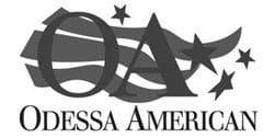 OdessaAmericanlogo-bw-hicontrast