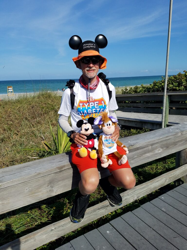 Don, Coco & Mickey after finishing the Type 1 Diabetes Run Across America including the first Mouse2Mouse Run Across America